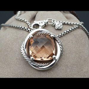 Jewelry - David Yurman  Infinity Morganite Pendant Necklace